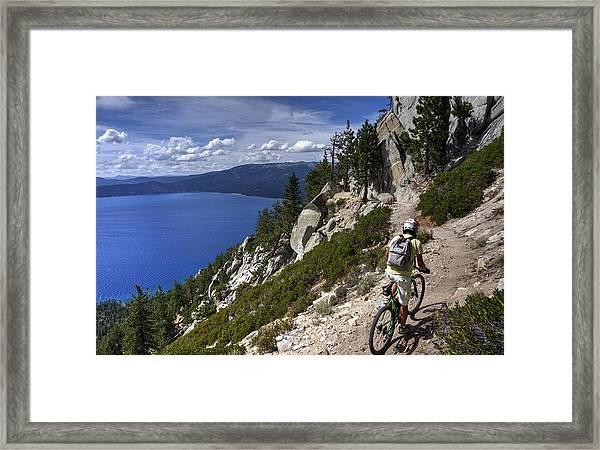 Riding The Flume Trail Framed Print