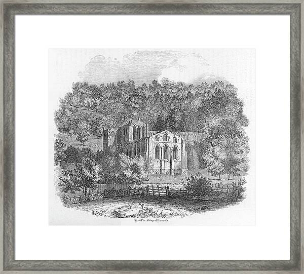 Rievaulx Abbey, Elegant Ruins Nestling Framed Print