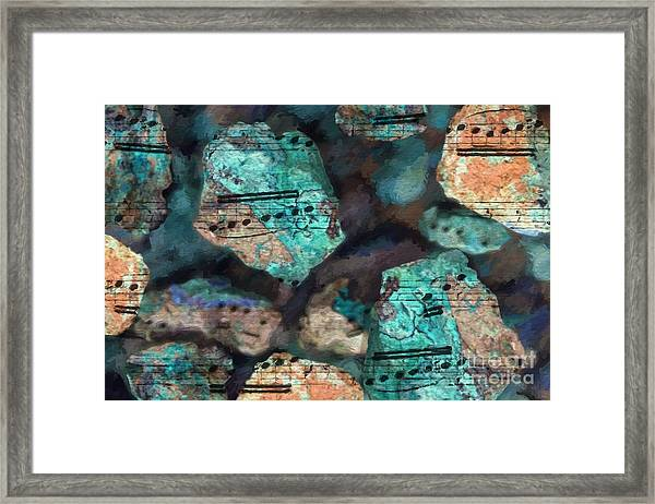 Riff On The Rocks Framed Print