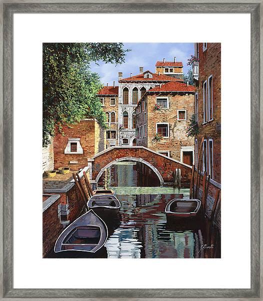 Riflessi Di Venezia Framed Print