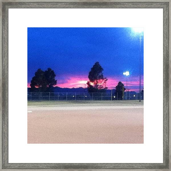 Right Before Our Games 👌⚾⚾ Framed Print