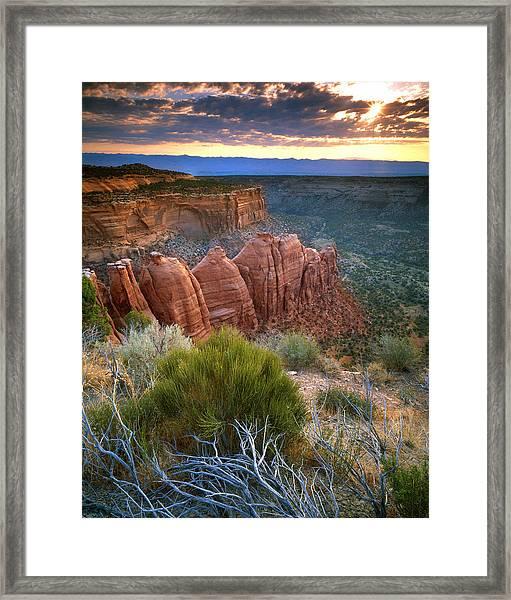 Rim Drive Sunrise Framed Print