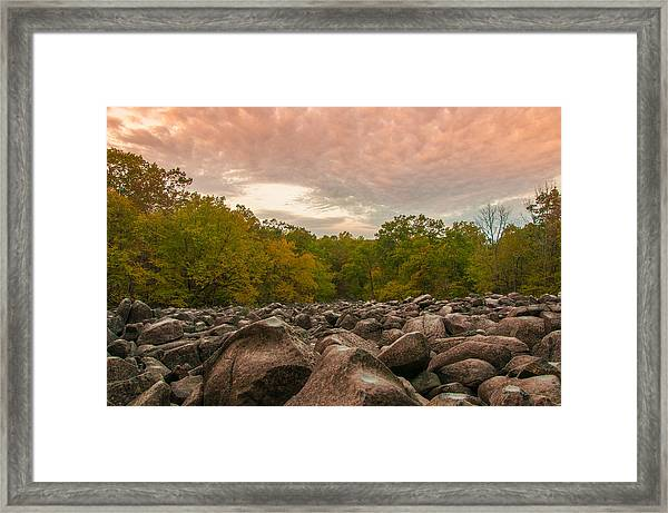 Ringing Rock Framed Print