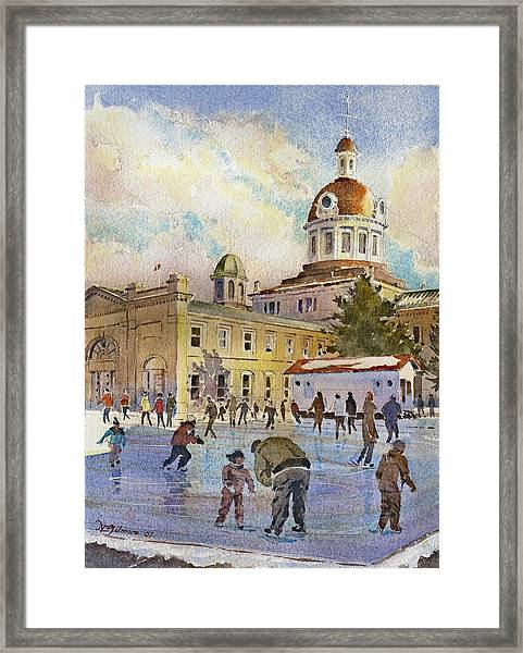 Rink At Kingston Market Square Framed Print