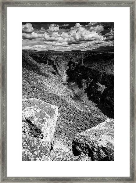 Rio Grande Gorge - Taos New Mexico Framed Print