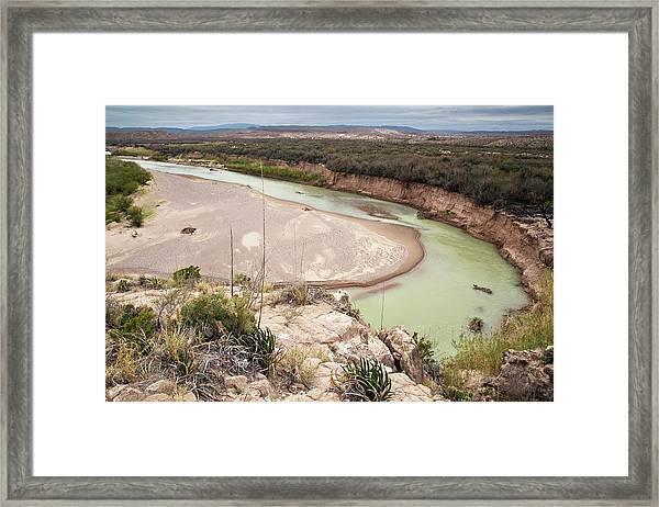 Rio Grande In Boquillas Canyon Framed Print