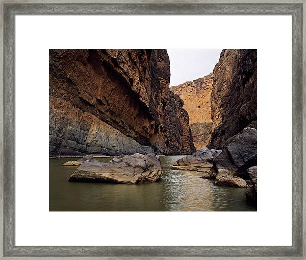Rio Grande Winding Through Santa Elena Framed Print