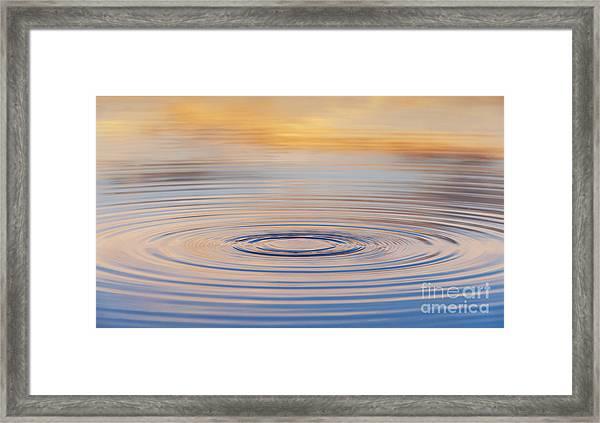 Ripples On A Still Pond Framed Print