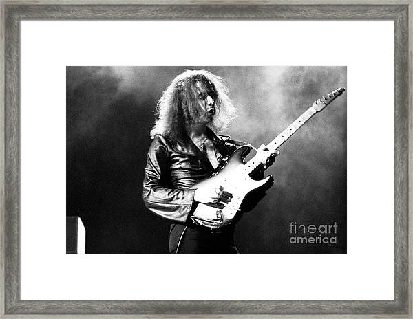 Riitchie Blackmore 1973 Deep Purple Framed Print by Chris Walter
