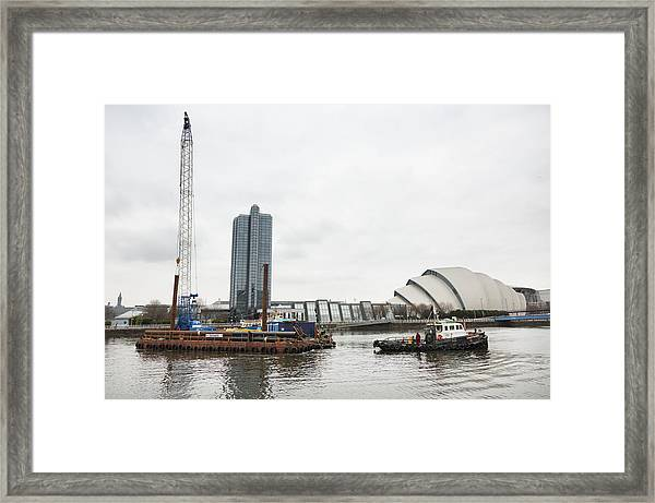 River Clyde Workboat, Glasgow Framed Print by Theasis