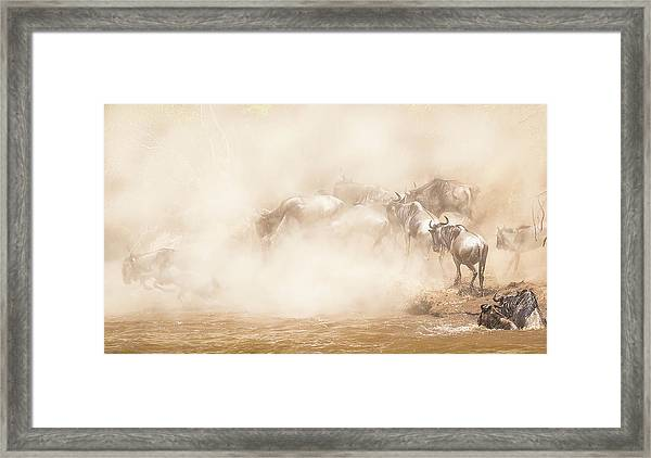 River Crossing Framed Print by Eunice Kim