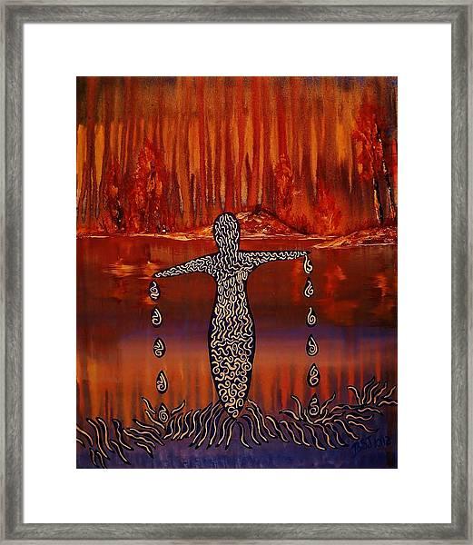 River Dance Framed Print