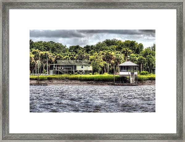 River House On Wimbee Creek Framed Print