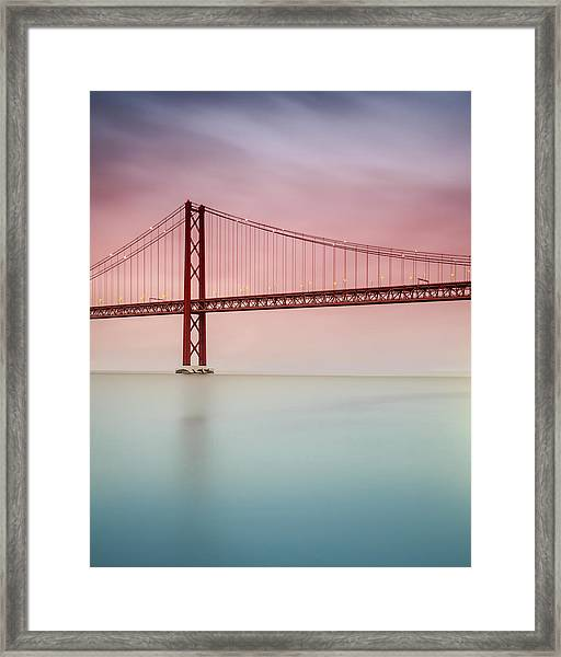 River Hues Framed Print