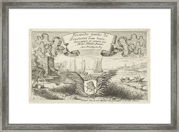 River Landscape With Weapon, Albert Flamen Framed Print