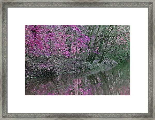 River Of Pastel Framed Print