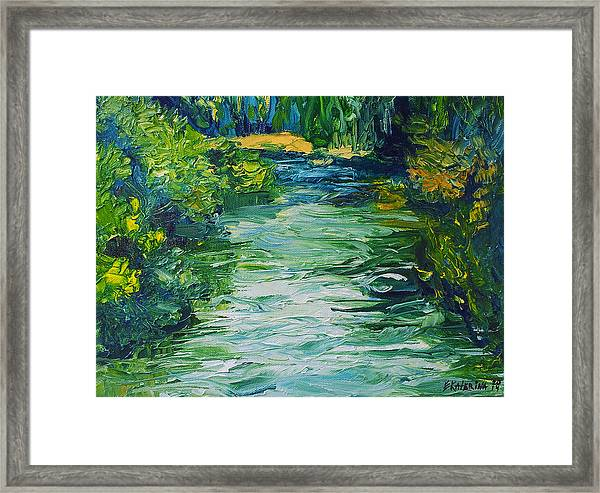 River Painting Framed Print