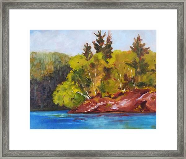 River Point Framed Print
