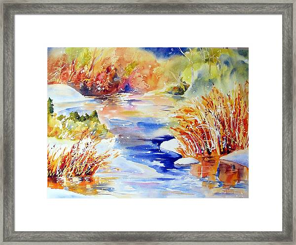 River Reeds Framed Print