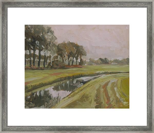 River Reusel Near Baarschot Framed Print