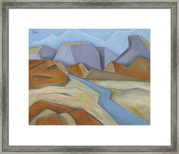 River Road Framed Print
