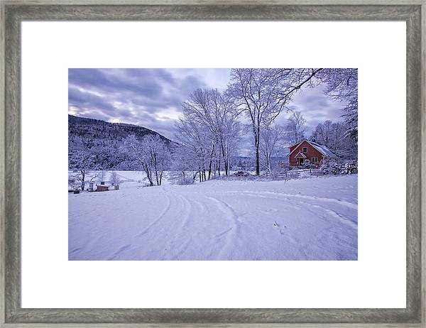 River Road Winter Framed Print