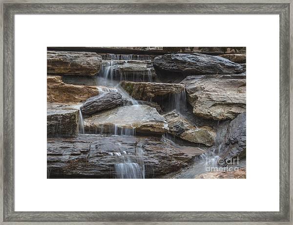 River Rock Waterfall Framed Print