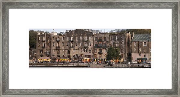 River Street Savannah Framed Print