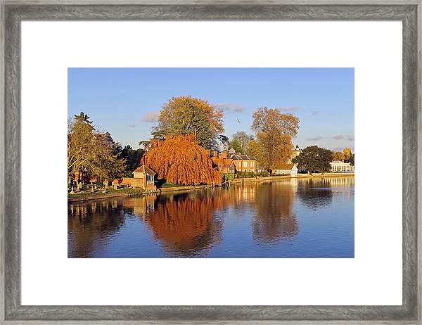 River Thames At Marlow Framed Print