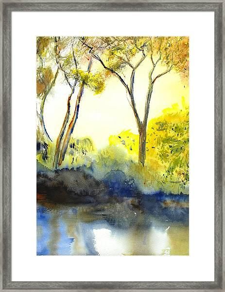 River Trees II Framed Print