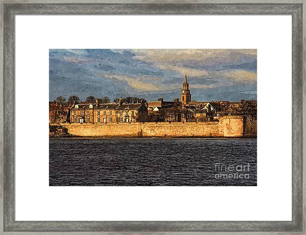 River Tweed At Berwick - Photo Art Framed Print