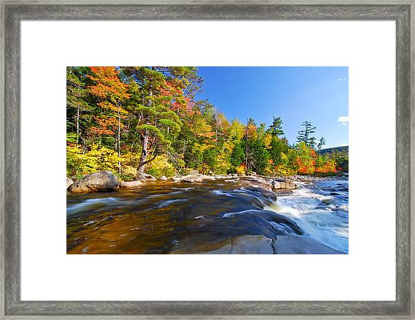 River View N.h. Framed Print