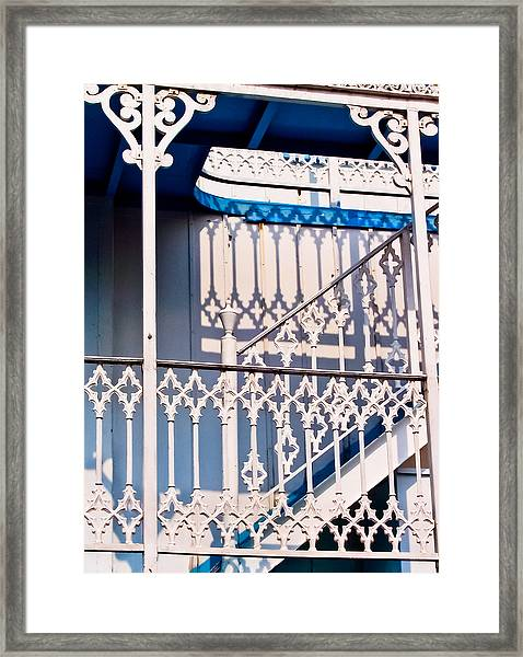 Riverboat Railings Framed Print