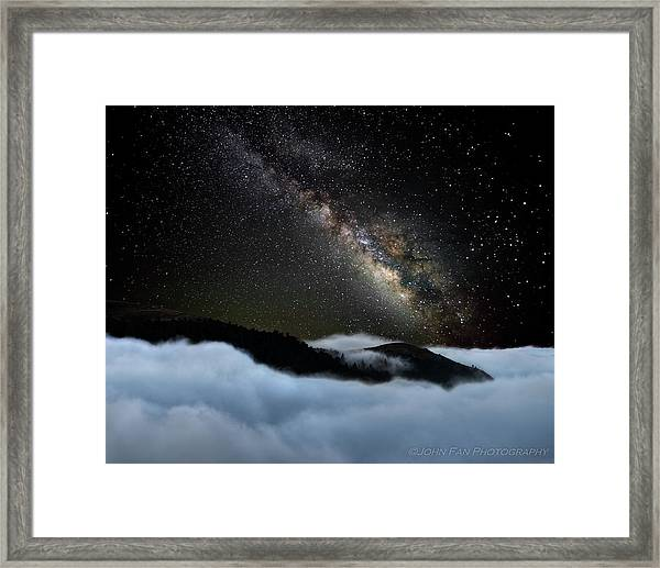 Rivers In The Sky Framed Print