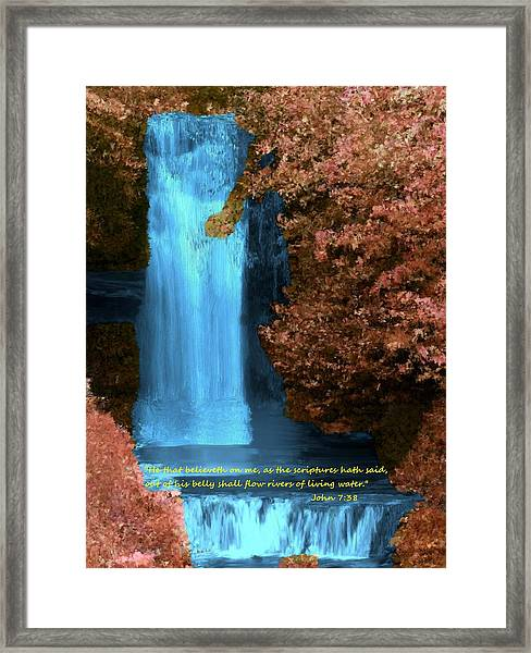 Rivers Of Living Water Framed Print