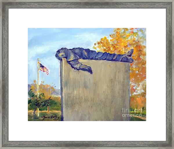 Riverside National Cemeter Veterans Memorial Framed Print