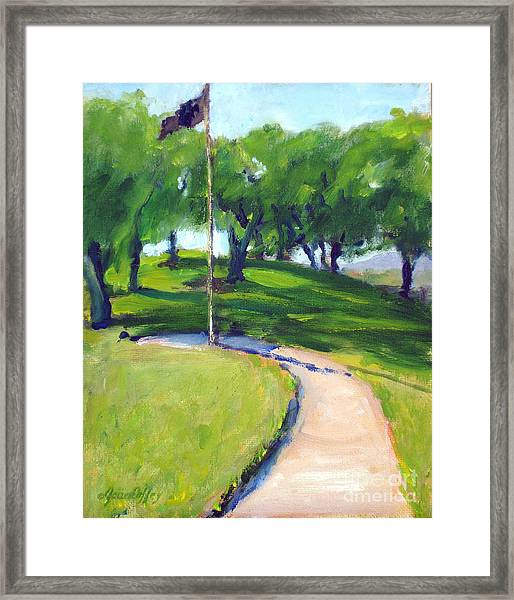Riverside National Cemetery Pow Mia Flag Framed Print