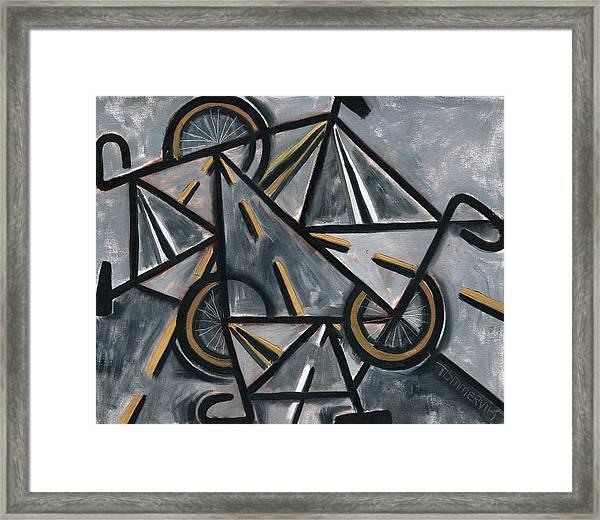 Tommervik Abstract Road Bikes Art Print Framed Print