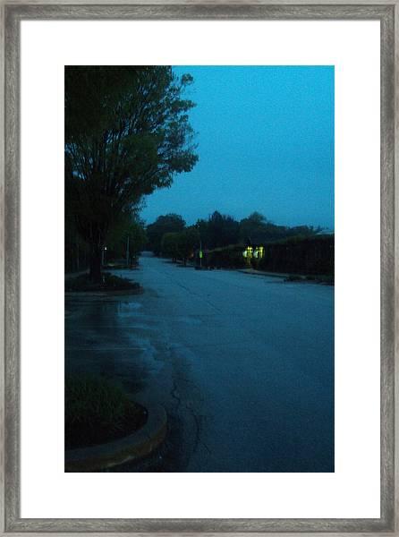 Road Framed Print by Cynthia Harvey