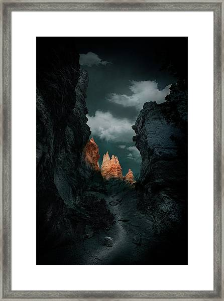 Road Framed Print by Louise Yu