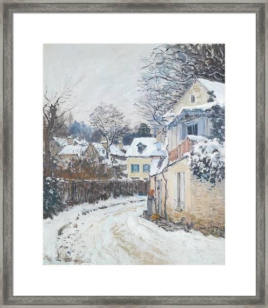 Road Louveciennes Framed Print