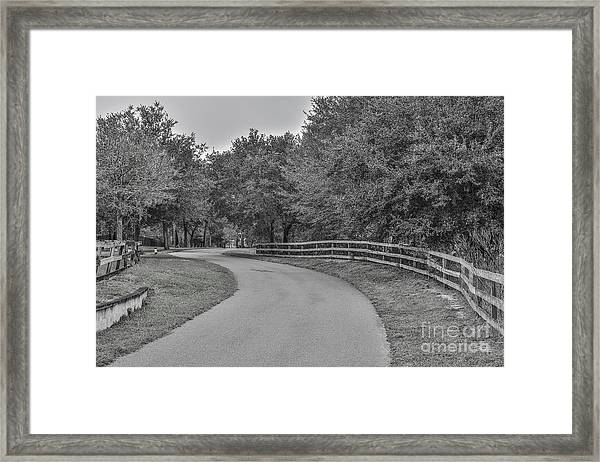 Road Path Framed Print by Mina Isaac