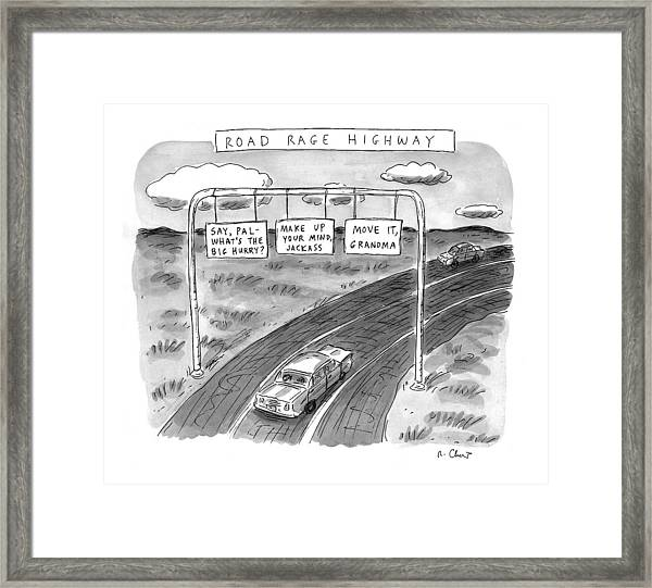 'road Rage Highway' Framed Print