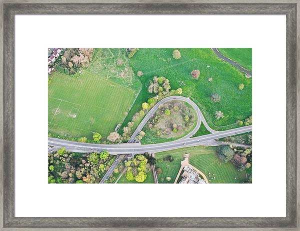 Road System Framed Print