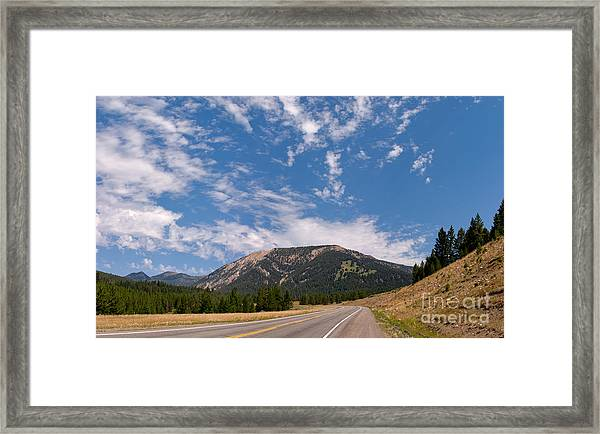 Road To Big Sky Country Framed Print