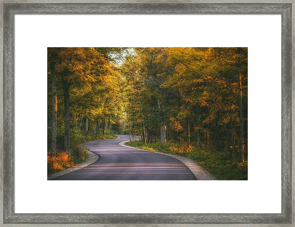 Road To Cave Point Framed Print