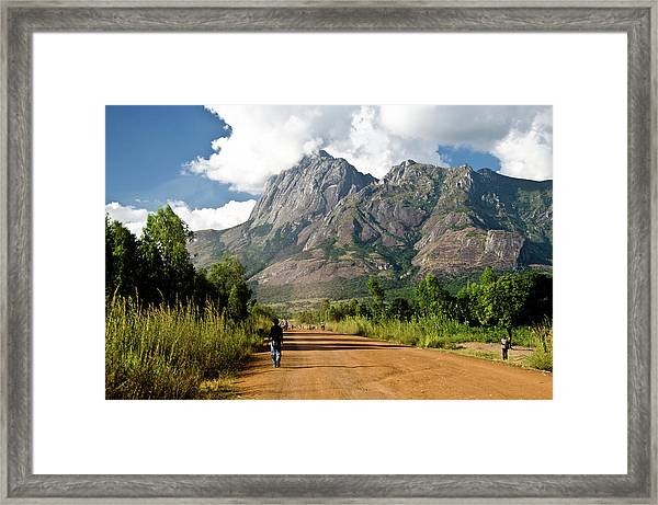 Road To Mount Mulanje Framed Print by Colin Carmichael