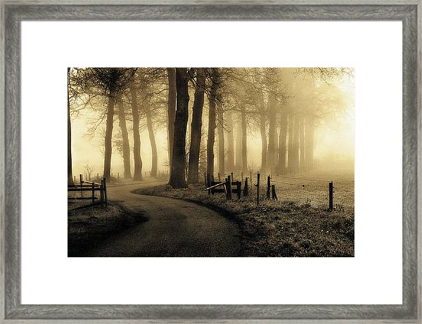 Road To Nowhere... Framed Print
