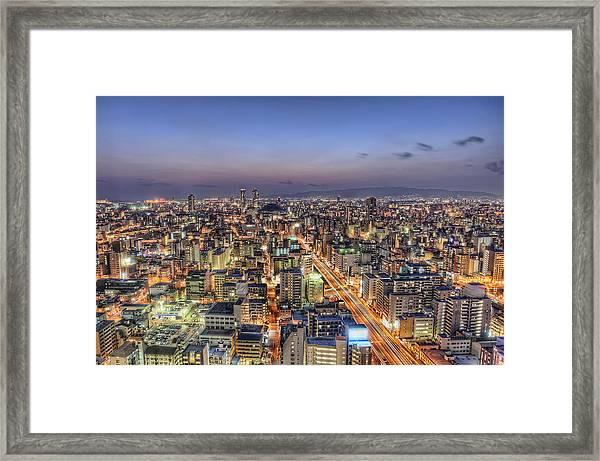 Road To Osaka Dome Framed Print by Daniel Chui
