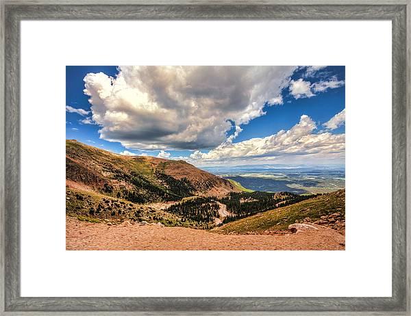 Road To Pikes Peak Framed Print